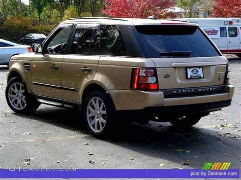 black and gold range rover 2006 maya gold metallic land rover range rover sport hse