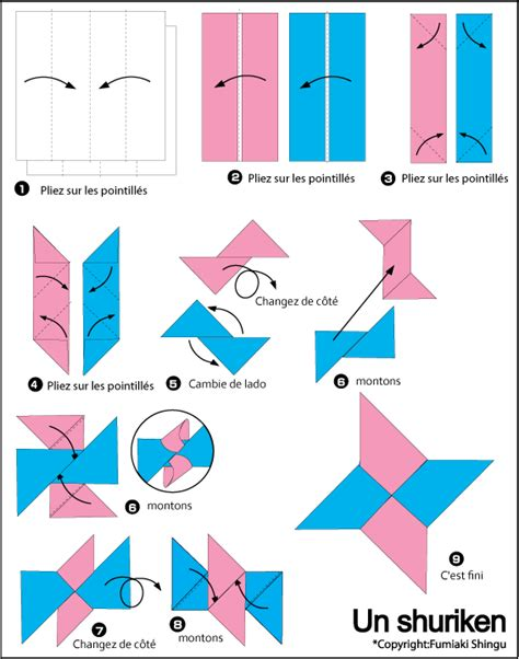 How To Make An Origami Shuriken - shuriken