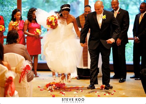 Wedding Ceremony Jumping The Broom by Hyatt Lodge Wedding Franchella And