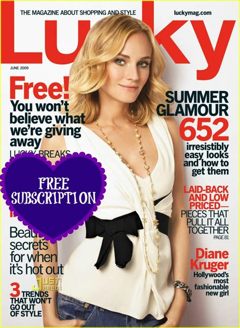 Lucky Magazine Giveaways - free lucky magazine subscription