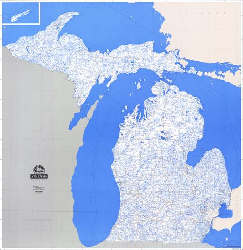 lake michigan map map of michigan inland lakes michigan map