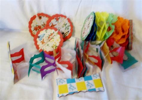 retro vintage fold out paper decorations