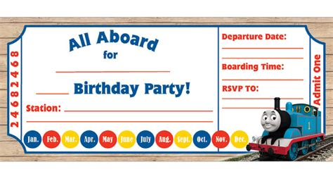 the tank engine template birthday invitations birthday pbs