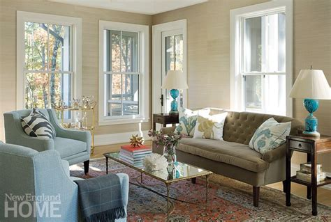 new england living room contemporary chic mixed with traditional furnishing in
