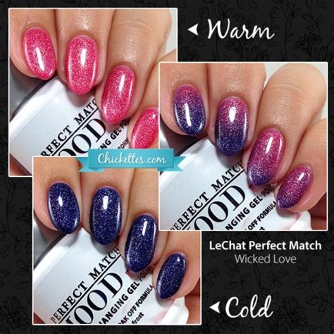 lechat nail art tutorial lechat moods wicked love smokey haute chickettes