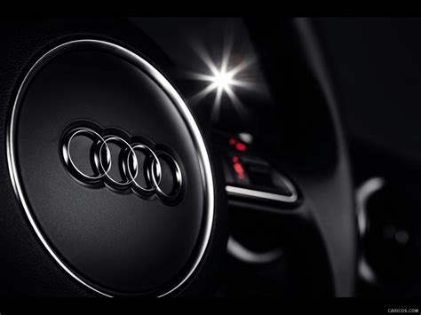audi  sportback   steering wheel detail hd