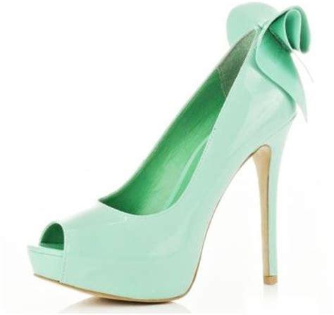 light green high heels river island light green peep toe bow shoes gt shoeperwoman