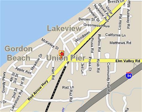 A Place Union Pier Mi Map Of Union Pier Michigan Michigan Map