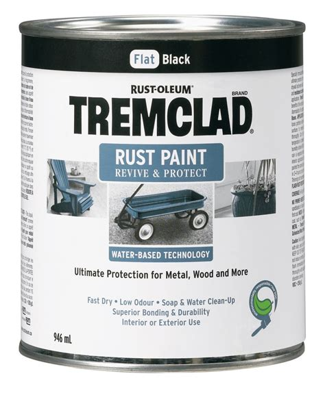 tremclad water based rust paint in flat black the home
