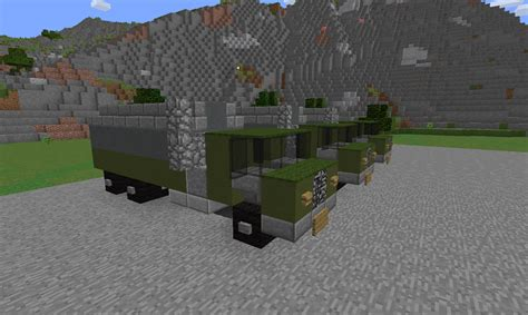 minecraft army truck operation safeguard includes 14 vehicle types minecraft