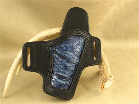 Handmade Leather Holster - handmade custom concealed carry right leather holster