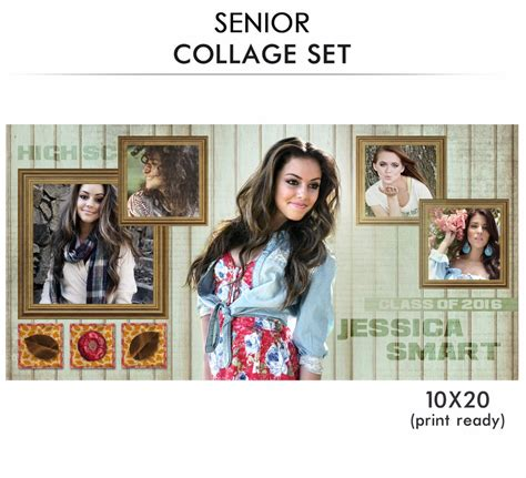 senior collage templates senior collage photoshop template