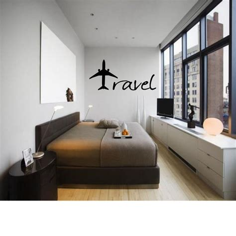 travel wall art travel plane decor wall art decal quote words lettering