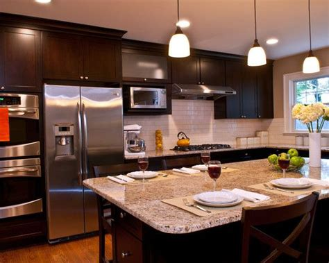 kitchen dark cabinets light granite like the dark cabinets light granite kitchen ideas
