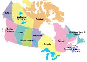 map of canada showing provinces and territories bca member contractors directory