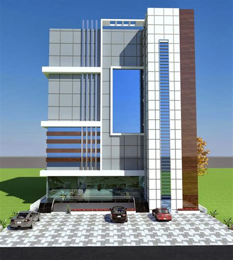 home design plaza ta commercial plaza plan 3d front elevation in porposal in