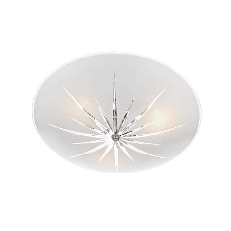 Lights For Low Ceilings Uk by Circualr Frosted Glass Low Ceiling Light With Cut Glass
