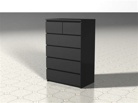 3d model of malm chest drawers