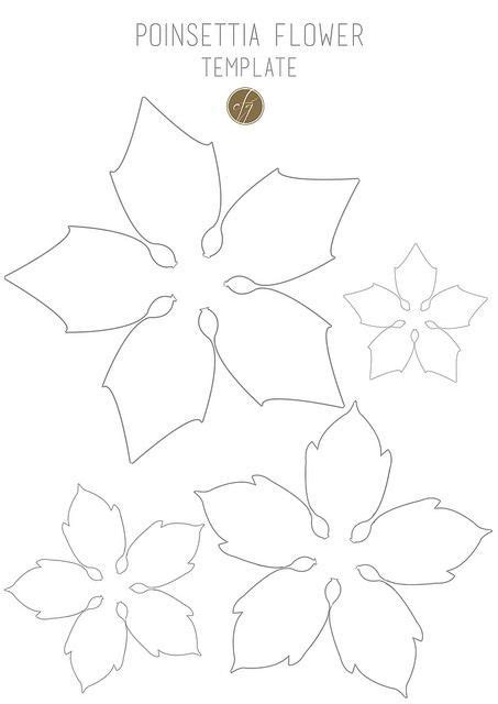 printable paper poinsettia pattern diy paper poinsettia free template flower paper and molde