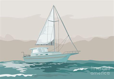 sailboat retro sailboat retro digital art by aloysius patrimonio