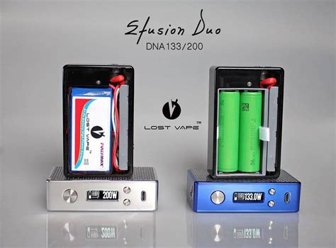 Efusion Duo Dna 200 Hybrid efusion duo dna133 200 by lost vape dual 18650