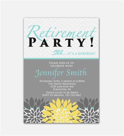 gallery of retirement party invitation wording latest new card ideas