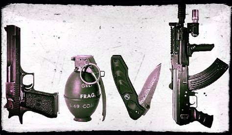 love tattoo gun grenade love gun grenade knife rifle poster www pixshark com