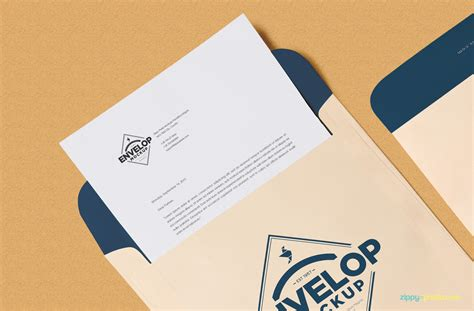 envelope design template psd free envelope psd mockup letterhead mockup zippypixels