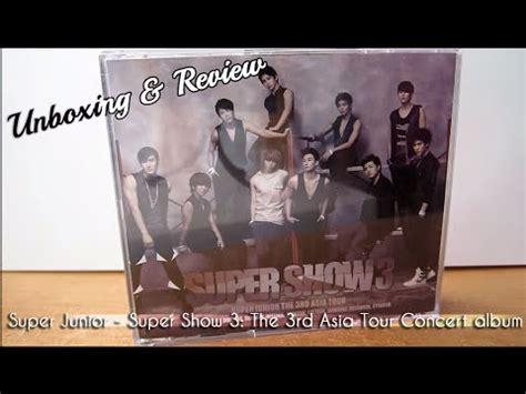 Cd Junior Show 3 Asia Tour junior show 3 the 3rd asia tour concert album cd unboxing review