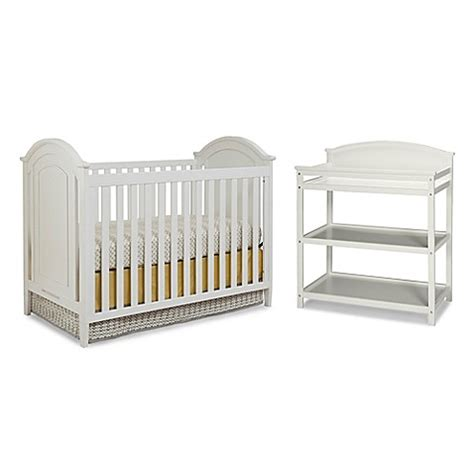 bed bath and beyond westwood imagio baby by westwood designs chatham 3 in 1 crib and changer set in white bed