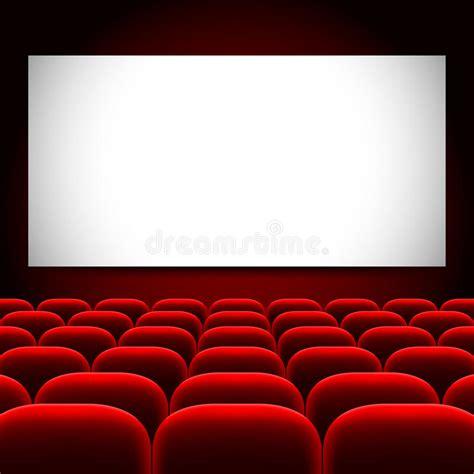 fondo cinema pantalla del cine y fondo rojo del vector de los asientos ilustraci 243 n del vector ilustraci 243 n