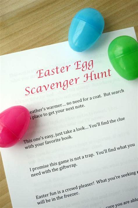 easter egg hunt ideas for adults easter egg scavenger hunt clues storypiece net easter