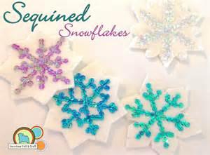 Patterns For Felt Christmas Tree Ornaments - sequin snowflakes felt christmas ornament pattern american felt amp craft blog