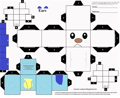 Canimals Papercraft - cubee 1 for xxsilver kattxx by turtwigkid77 on deviantart