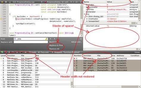 qt designer grid layout add column qtcreatorbug 12670 store debug view layout settings