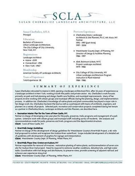 Landscape Architecture Objectives Landscape Architect Resume Objective