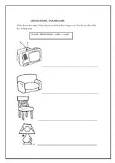 Living Room Worksheets Worksheets Living Room Activity