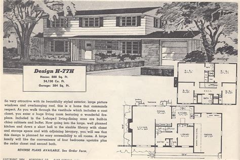 retro home plans vintage house plans 77h antique alter ego