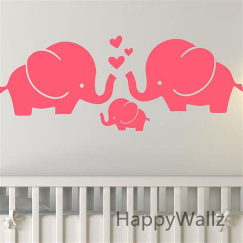 ξelephants Wall Sticker Baby Baby Nursery Diy Elephant Removable Wall Decals For Baby Nursery