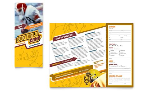 football sports c brochure template word publisher