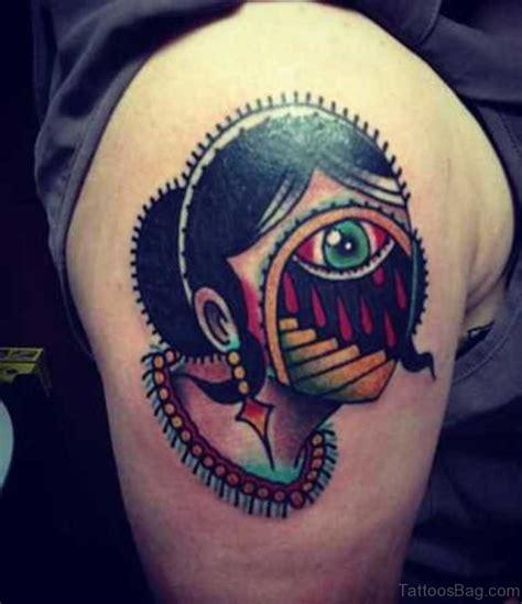 tattoo eye lady 60 superb eye tattoos for shoulder