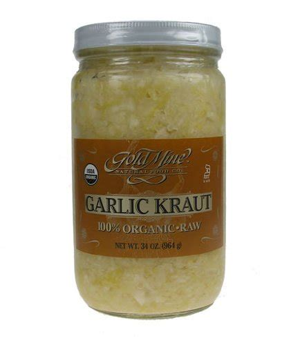 Unpasteurized Sauerkraut 10 Seconds Detox by Gold Mine Organic Sauerkraut 34 Oz