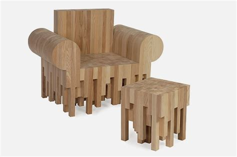 Elegant Furniture Made of Pieces of Ash Wood ? End Pieces   Home, Building, Furniture and