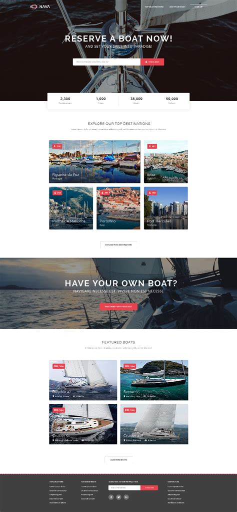 nava one page html template free html5 templates