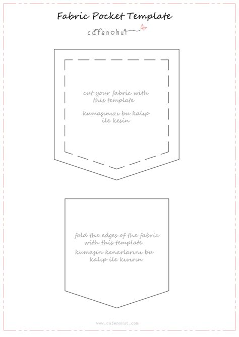 fabric pocket template pdf sew pinterest crafting
