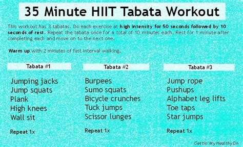 the s health fitness fix hiit workouts easy recipes stress free strategies for managing a healthy books 35 min hiit tabata workout jpg gettin my healthy on