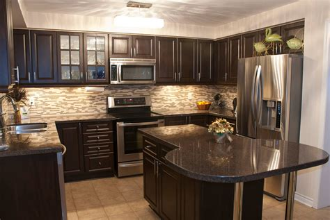 kitchen wall colors with dark cabinets wall colors for kitchen with dark cabinets home combo