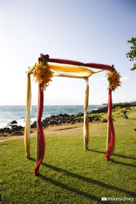 Yellow Wedding Arch by 29 Best Images About 4 Post Wedding Arches On