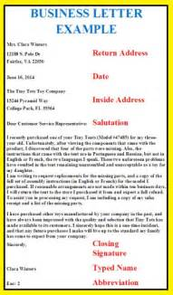 business exles business letters business letter exles
