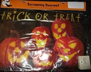 Screaming Doormat Amazon Com Halloween Pumpkin Screaming Door Mat